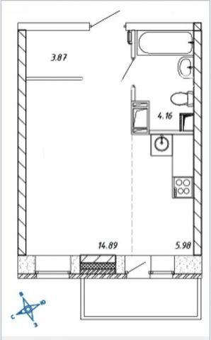 Аренда 1-к квартиры на Омская улица, 15, метро Рассказовка, г. Москва